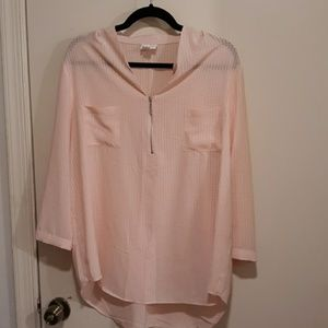 Jaclyn smith light pink top